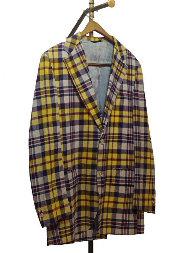 70's USA Vintage Madras Check Cotton Jacket <img class='new_mark_img2' src='https://img.shop-pro.jp/img/new/icons8.gif' style='border:none;display:inline;margin:0px;padding:0px;width:auto;' />