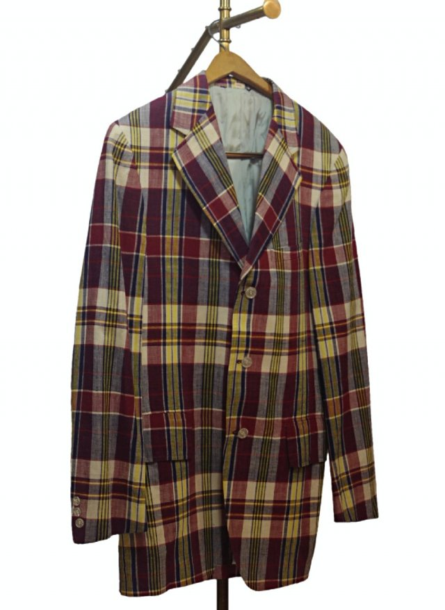 70's USA Vintage India Madras Check Cotton Jacket  <img class='new_mark_img2' src='https://img.shop-pro.jp/img/new/icons8.gif' style='border:none;display:inline;margin:0px;padding:0px;width:auto;' />