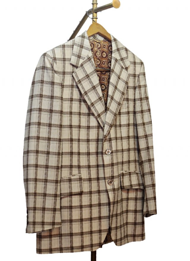 70's USA Vintage Check Jacket  <img class='new_mark_img2' src='https://img.shop-pro.jp/img/new/icons8.gif' style='border:none;display:inline;margin:0px;padding:0px;width:auto;' />