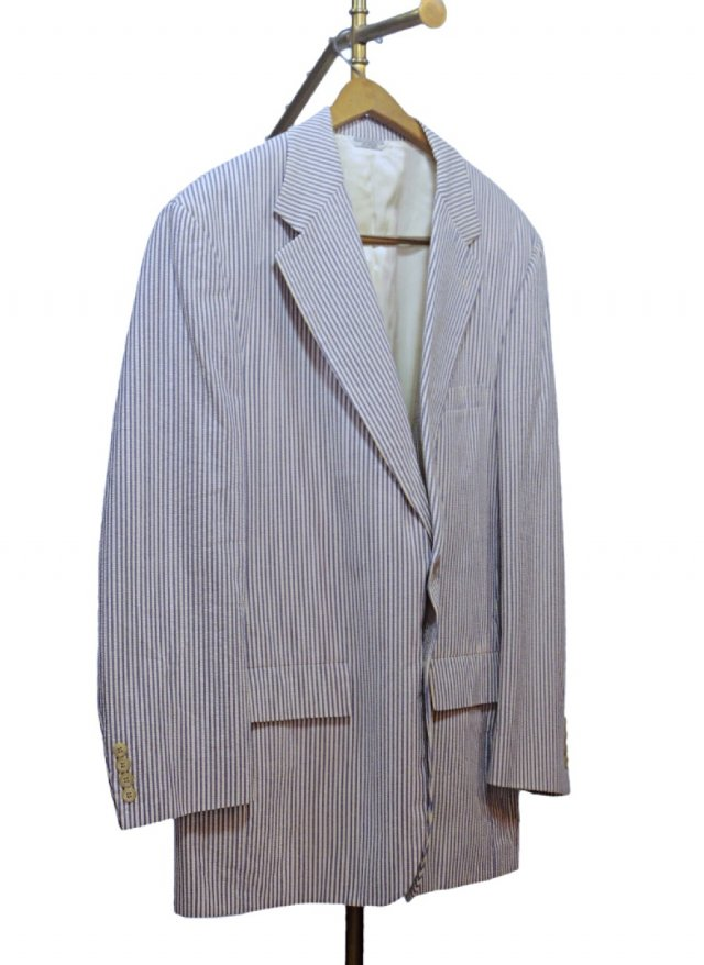 80's USA Vintage Stripe Seersucker Cotton Jacket Paul Stuart     #280<img class='new_mark_img2' src='https://img.shop-pro.jp/img/new/icons8.gif' style='border:none;display:inline;margin:0px;padding:0px;width:auto;' />