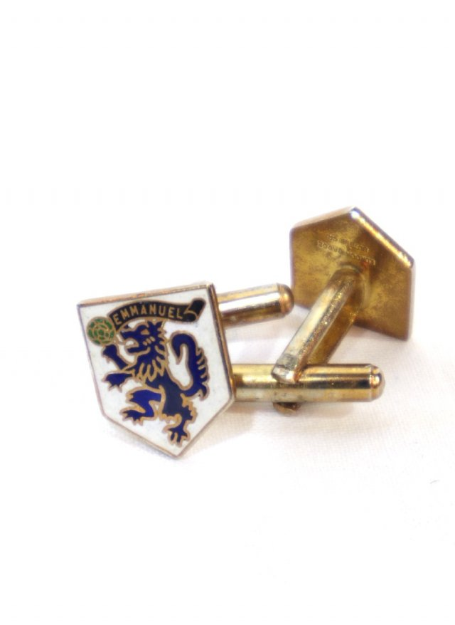 UK Vintage Swivel Emmanuel College Cuff Links LONDON BADGE & BUTTON CO.     NO.689<img class='new_mark_img2' src='https://img.shop-pro.jp/img/new/icons8.gif' style='border:none;display:inline;margin:0px;padding:0px;width:auto;' />