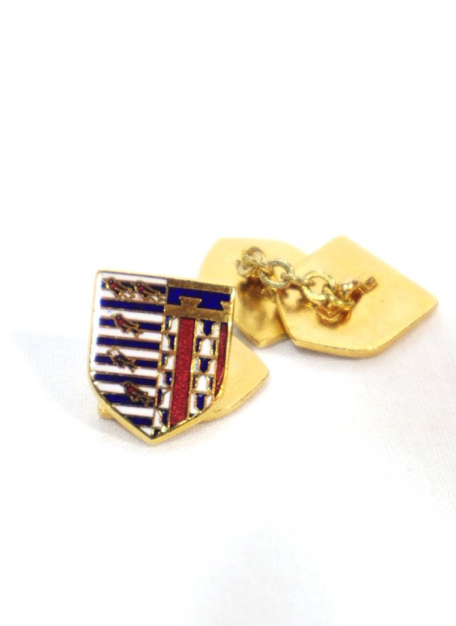 40's Vintage Chain Cuff Links Crest Double Face<img class='new_mark_img2' src='//img.shop-pro.jp/img/new/icons8.gif' style='border:none;display:inline;margin:0px;padding:0px;width:auto;' />