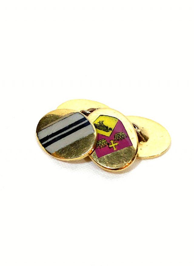 10's Vintage L'sB Chain Cuff Links Crest Double Face Lambournes     NO.680<img class='new_mark_img2' src='https://img.shop-pro.jp/img/new/icons8.gif' style='border:none;display:inline;margin:0px;padding:0px;width:auto;' />