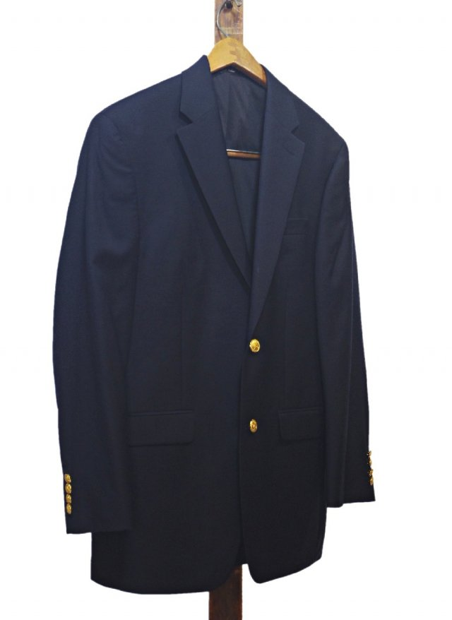 LAUREN  Ralph Lauren Wool Navy Blazer #76<img class='new_mark_img2' src='https://img.shop-pro.jp/img/new/icons8.gif' style='border:none;display:inline;margin:0px;padding:0px;width:auto;' />