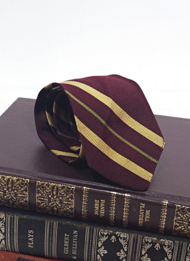 Vintage USA Rep Stripe Silk Neck Tie John Wanamaker<img class='new_mark_img2' src='//img.shop-pro.jp/img/new/icons8.gif' style='border:none;display:inline;margin:0px;padding:0px;width:auto;' />
