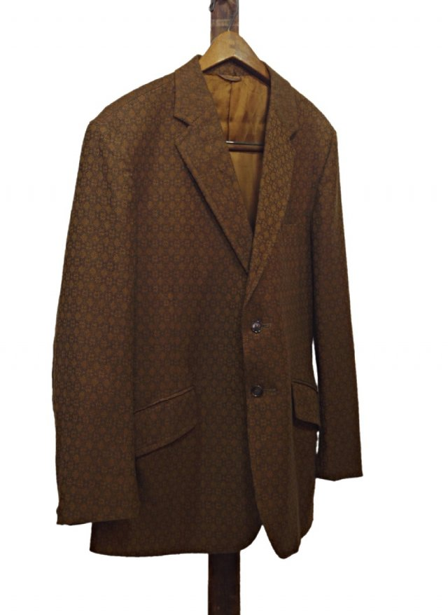 80's UK Vintage Polyester & Wool Jacquard Pattern Jacket  #623<img class='new_mark_img2' src='https://img.shop-pro.jp/img/new/icons8.gif' style='border:none;display:inline;margin:0px;padding:0px;width:auto;' />