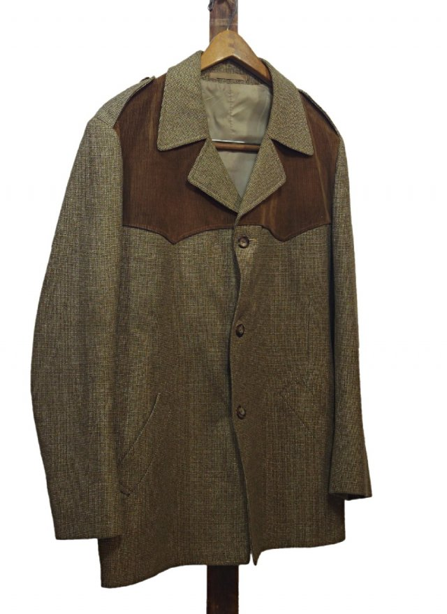 80's UK Vintage Dunn & Co. Wool Polyester Shooting Jacket #650<img class='new_mark_img2' src='//img.shop-pro.jp/img/new/icons8.gif' style='border:none;display:inline;margin:0px;padding:0px;width:auto;' />