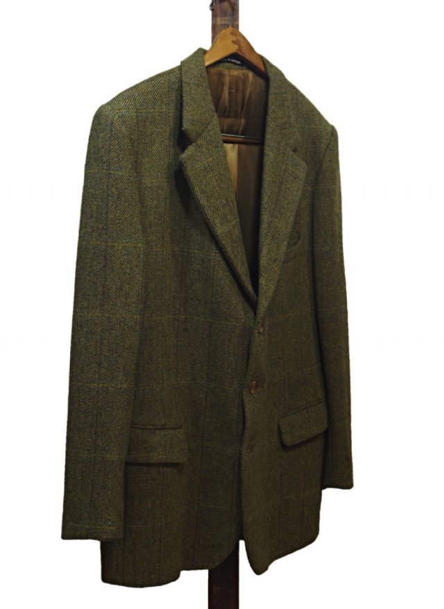UK Vintage P&F Haggart Ltd Windowpane Check Tweed Jacket #625<img class='new_mark_img2' src='//img.shop-pro.jp/img/new/icons8.gif' style='border:none;display:inline;margin:0px;padding:0px;width:auto;' />