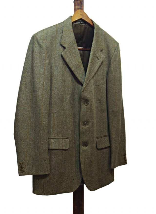 UK Vintage JOHN G HARDY Tweed Jacket <img class='new_mark_img2' src='https://img.shop-pro.jp/img/new/icons8.gif' style='border:none;display:inline;margin:0px;padding:0px;width:auto;' />