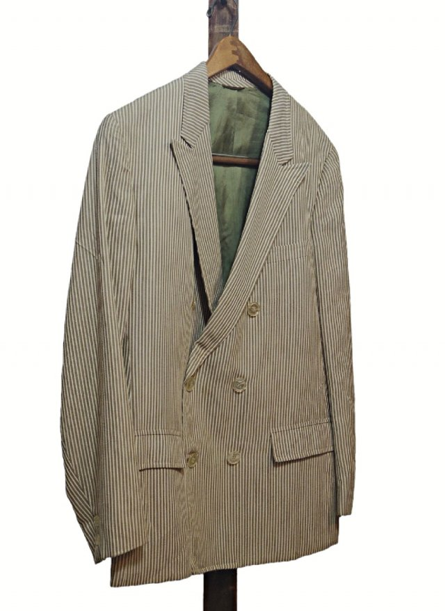 Re standard Vintage 70's USA Stripe Cotton Double Jacket <img class='new_mark_img2' src='https://img.shop-pro.jp/img/new/icons8.gif' style='border:none;display:inline;margin:0px;padding:0px;width:auto;' />