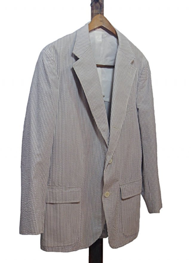 Re standard Vintage USA 70's BROOKS BROTHERS Stripe Seersucker Cotton Jacket   JK-0078<img class='new_mark_img2' src='https://img.shop-pro.jp/img/new/icons8.gif' style='border:none;display:inline;margin:0px;padding:0px;width:auto;' />