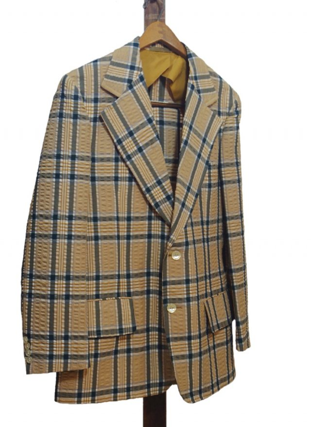 Re standard Vintage USA 70's Haspel Seersucker Check Jacket <img class='new_mark_img2' src='https://img.shop-pro.jp/img/new/icons8.gif' style='border:none;display:inline;margin:0px;padding:0px;width:auto;' />