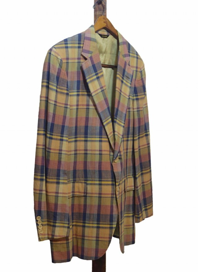 80's USA Vintage  Madras Check Cotton Jacket  JK-0056<img class='new_mark_img2' src='https://img.shop-pro.jp/img/new/icons8.gif' style='border:none;display:inline;margin:0px;padding:0px;width:auto;' />