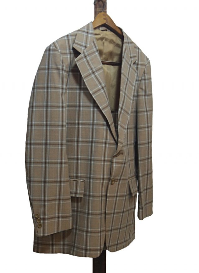 Vintage Check Cotton Jacket <img class='new_mark_img2' src='https://img.shop-pro.jp/img/new/icons8.gif' style='border:none;display:inline;margin:0px;padding:0px;width:auto;' />