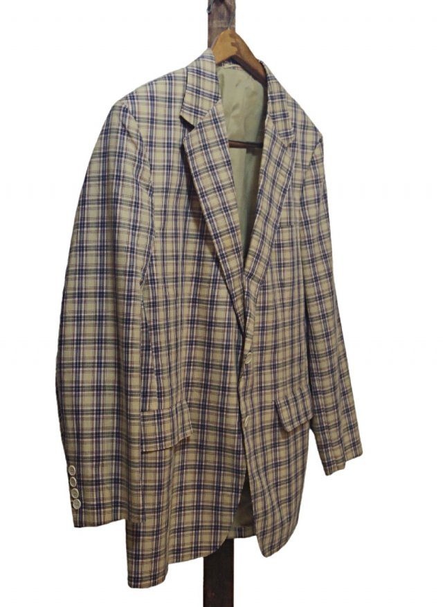 70's USA Vintage Check Cotton Jacket John Weitz by Palm Beach<img class='new_mark_img2' src='https://img.shop-pro.jp/img/new/icons8.gif' style='border:none;display:inline;margin:0px;padding:0px;width:auto;' />