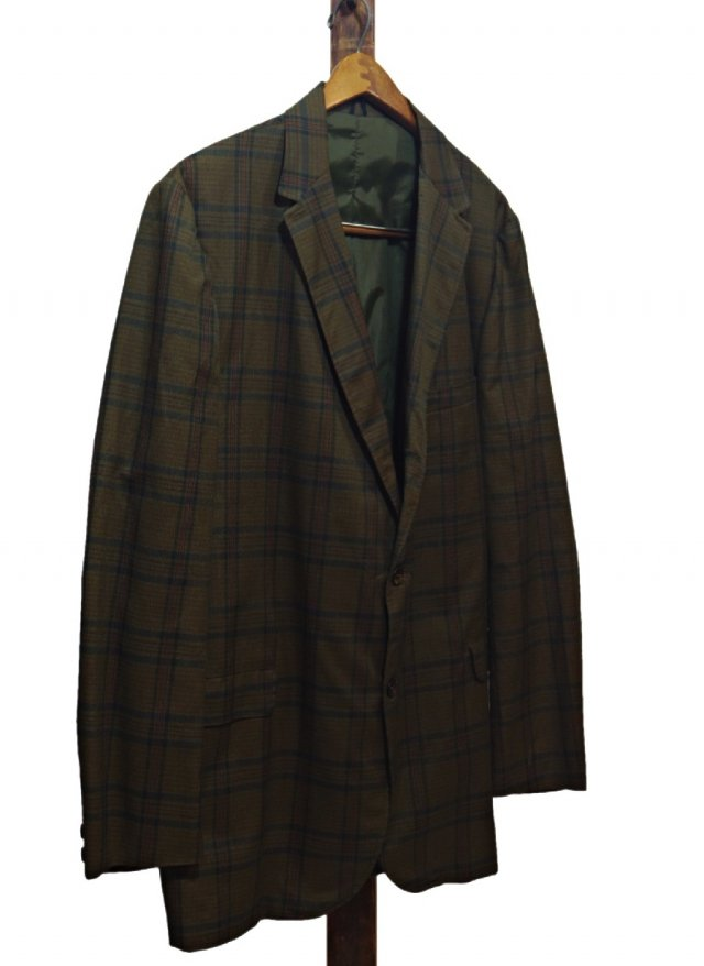 Vintage Dark Madras Check Jacket BRADLEES     JK-0061<img class='new_mark_img2' src='https://img.shop-pro.jp/img/new/icons8.gif' style='border:none;display:inline;margin:0px;padding:0px;width:auto;' />