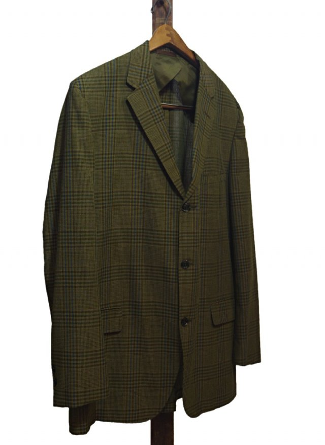 60's USA Vintage Haspel × YALE GENTON Dark Check Jacket <img class='new_mark_img2' src='https://img.shop-pro.jp/img/new/icons8.gif' style='border:none;display:inline;margin:0px;padding:0px;width:auto;' />