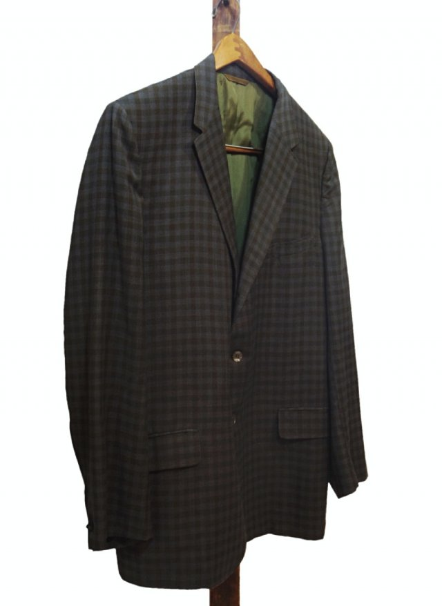 60's USA Vintage Dark Check Jacket <img class='new_mark_img2' src='//img.shop-pro.jp/img/new/icons8.gif' style='border:none;display:inline;margin:0px;padding:0px;width:auto;' />