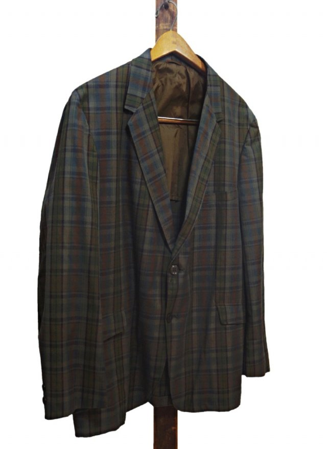 60's USA Vintage PENNY'S  TOWNCRAFT PENN-PREST Dark Check Jacket <img class='new_mark_img2' src='//img.shop-pro.jp/img/new/icons8.gif' style='border:none;display:inline;margin:0px;padding:0px;width:auto;' />
