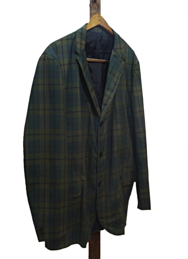 Vintage Dark Madras Check Jacket BRADLEES<img class='new_mark_img2' src='//img.shop-pro.jp/img/new/icons8.gif' style='border:none;display:inline;margin:0px;padding:0px;width:auto;' />