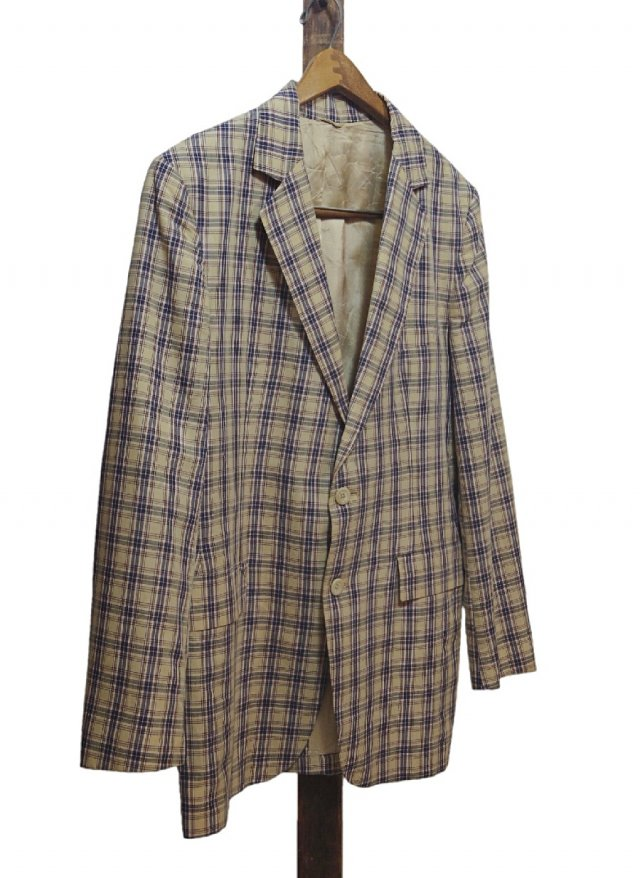 60's Vintage Madras Check Jacket <img class='new_mark_img2' src='//img.shop-pro.jp/img/new/icons8.gif' style='border:none;display:inline;margin:0px;padding:0px;width:auto;' />