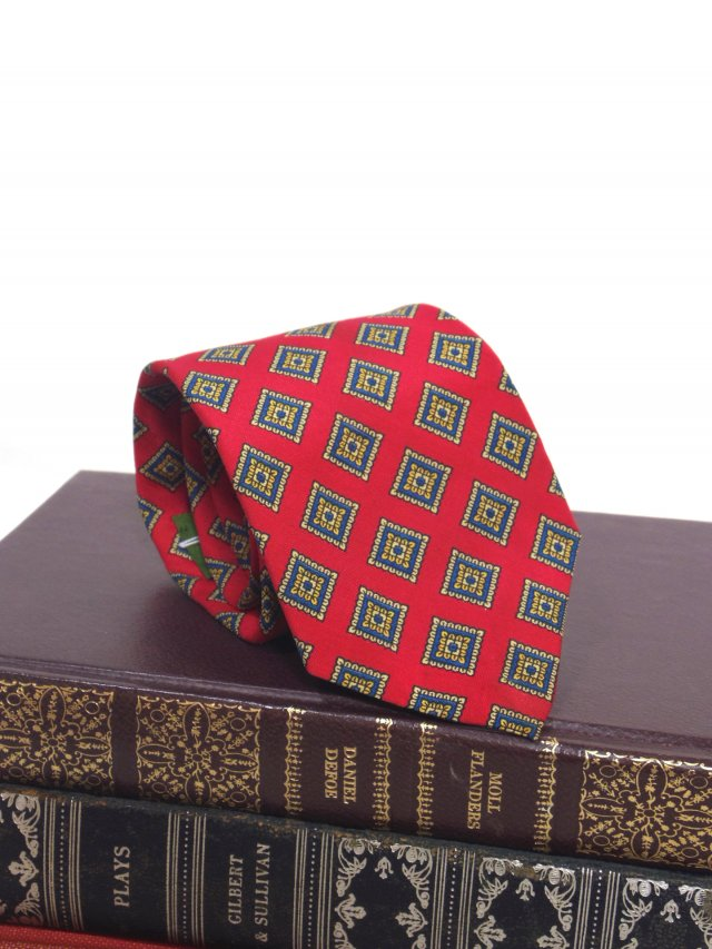 80's Vintage Art Deco Neck Tie BOSTON TRADERS<img class='new_mark_img2' src='https://img.shop-pro.jp/img/new/icons8.gif' style='border:none;display:inline;margin:0px;padding:0px;width:auto;' />