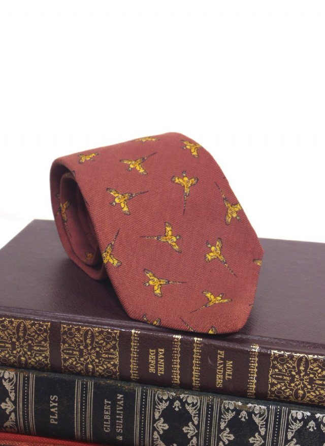 Vintage ITA Print Neck Tie FERRELL REED × CAMBRIDGE CLOTHIER<img class='new_mark_img2' src='https://img.shop-pro.jp/img/new/icons8.gif' style='border:none;display:inline;margin:0px;padding:0px;width:auto;' />