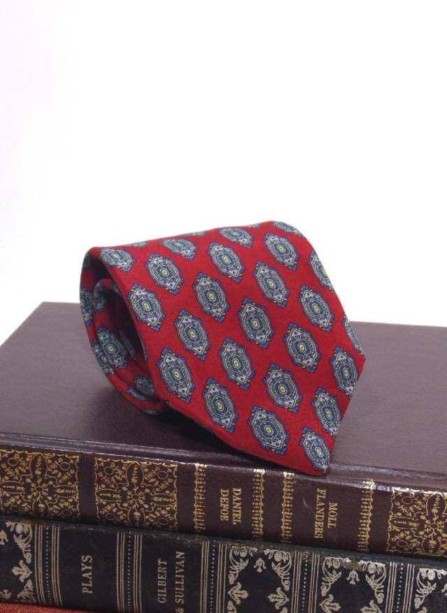 ITA Vintage Silk Neck Tie Battaglia<img class='new_mark_img2' src='https://img.shop-pro.jp/img/new/icons8.gif' style='border:none;display:inline;margin:0px;padding:0px;width:auto;' />