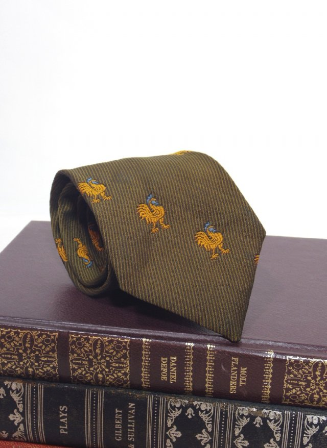 70's Vintage Crest Neck Tie RESISTO<img class='new_mark_img2' src='https://img.shop-pro.jp/img/new/icons8.gif' style='border:none;display:inline;margin:0px;padding:0px;width:auto;' />