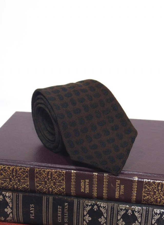 60's USA Vintage Paisley Print Skinny Wool Neck Tie BROOKS BROTHERS MAKERS<img class='new_mark_img2' src='https://img.shop-pro.jp/img/new/icons8.gif' style='border:none;display:inline;margin:0px;padding:0px;width:auto;' />