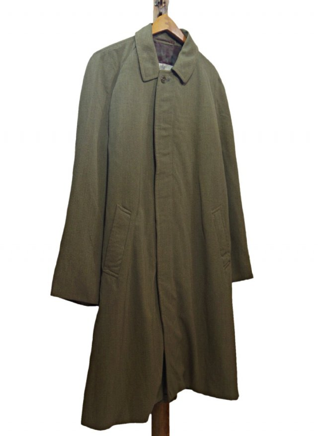 UK Vintage Old Aquascutum Showerproof balmacaan Coat #585