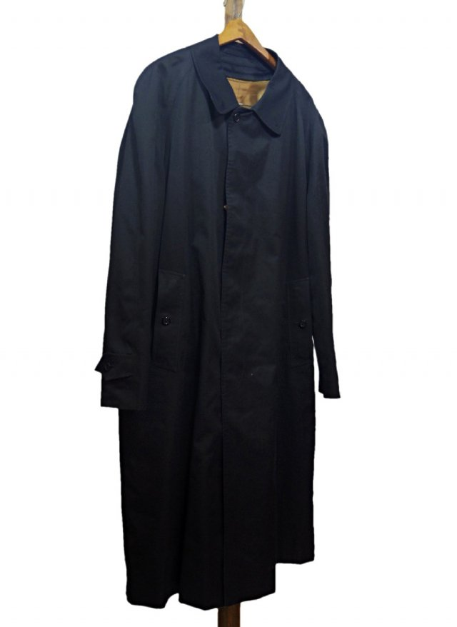 80's BURBERRYS Vintage Balmacaan Coat <img class='new_mark_img2' src='https://img.shop-pro.jp/img/new/icons8.gif' style='border:none;display:inline;margin:0px;padding:0px;width:auto;' />