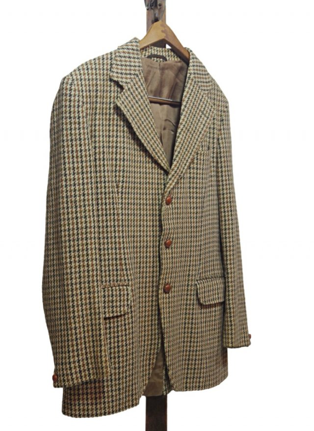 70's UK Harris Tweed × Dunn & Co. Vintage Gun club Check Jacket #619<img class='new_mark_img2' src='https://img.shop-pro.jp/img/new/icons8.gif' style='border:none;display:inline;margin:0px;padding:0px;width:auto;' />