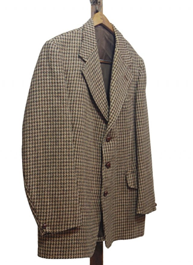 70's UK Harris Tweed × Dunn & Co. Vintage Gun club Check Jacket #637<img class='new_mark_img2' src='https://img.shop-pro.jp/img/new/icons8.gif' style='border:none;display:inline;margin:0px;padding:0px;width:auto;' />