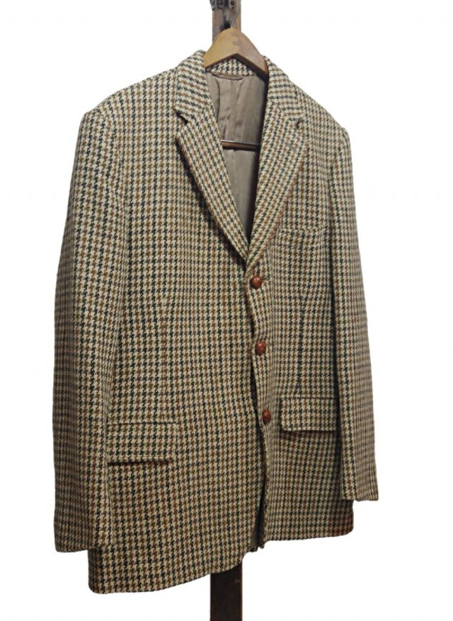 60's UK Harris Tweed × Dunn & Co. Vintage Gun club Check Jacket #638<img class='new_mark_img2' src='https://img.shop-pro.jp/img/new/icons8.gif' style='border:none;display:inline;margin:0px;padding:0px;width:auto;' />