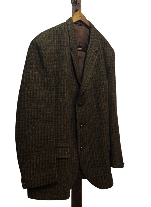 60's UK Harris Tweed Vintage 3 Buttons Jacket #554<img class='new_mark_img2' src='//img.shop-pro.jp/img/new/icons8.gif' style='border:none;display:inline;margin:0px;padding:0px;width:auto;' />