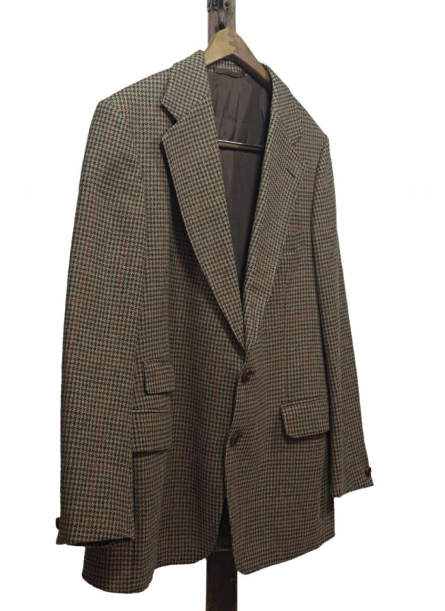 70's UK CROMBIE Vintage Gun club Check Tweed Jacket #622<img class='new_mark_img2' src='https://img.shop-pro.jp/img/new/icons8.gif' style='border:none;display:inline;margin:0px;padding:0px;width:auto;' />