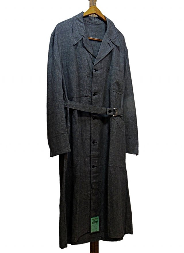 60's Dead Stock French Vintage Black Chambray Work Coat <img class='new_mark_img2' src='//img.shop-pro.jp/img/new/icons8.gif' style='border:none;display:inline;margin:0px;padding:0px;width:auto;' />