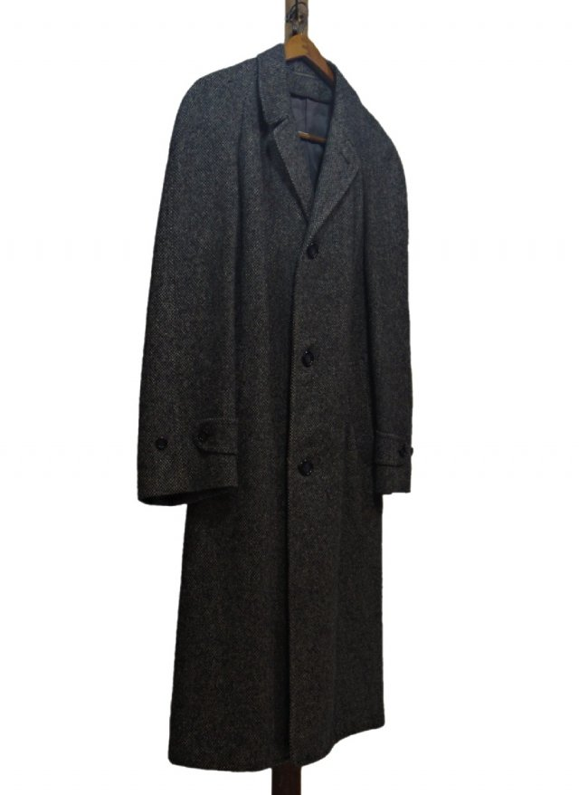70's USA Harris Tweed Vintage Long Coat #571<img class='new_mark_img2' src='https://img.shop-pro.jp/img/new/icons8.gif' style='border:none;display:inline;margin:0px;padding:0px;width:auto;' />