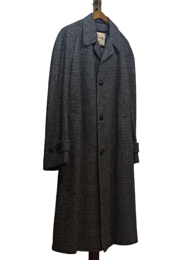 60's-70's USA Harris Tweed Vintage Long Coat #576<img class='new_mark_img2' src='https://img.shop-pro.jp/img/new/icons8.gif' style='border:none;display:inline;margin:0px;padding:0px;width:auto;' />