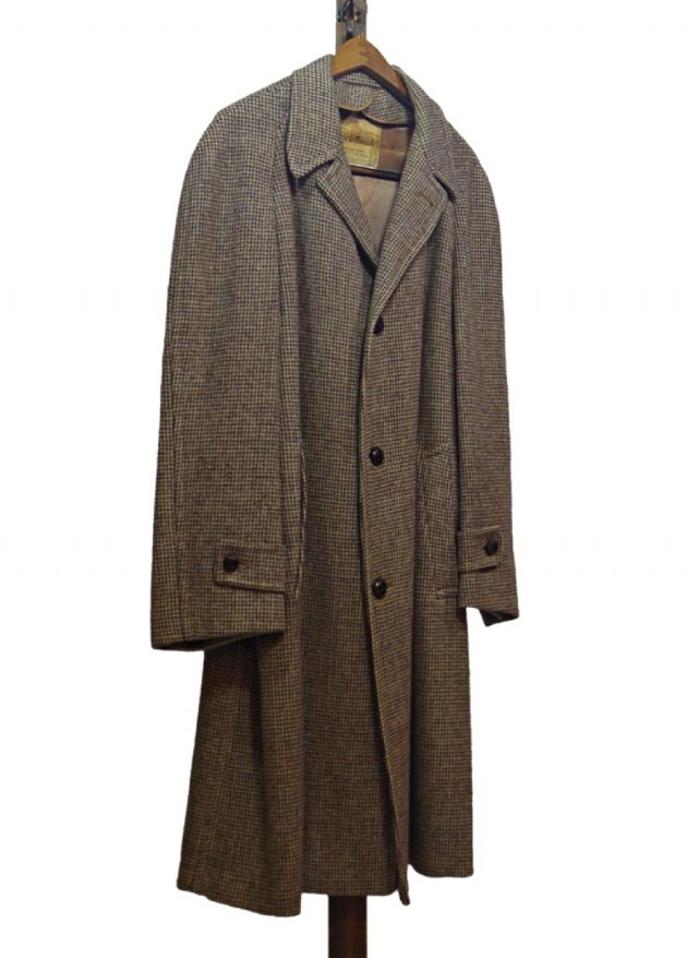 60's-70's USA Harris Tweed Vintage Long Coat <img class='new_mark_img2' src='https://img.shop-pro.jp/img/new/icons8.gif' style='border:none;display:inline;margin:0px;padding:0px;width:auto;' />