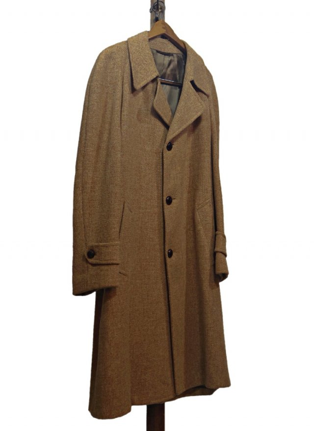 70's-80's USA Harris Tweed Vintage Long Coat   HTC-0003<img class='new_mark_img2' src='https://img.shop-pro.jp/img/new/icons8.gif' style='border:none;display:inline;margin:0px;padding:0px;width:auto;' />