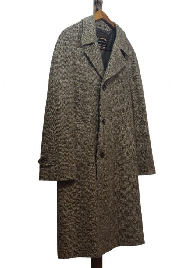 80's USA Harris Tweed Vintage Long Coat #574<img class='new_mark_img2' src='https://img.shop-pro.jp/img/new/icons8.gif' style='border:none;display:inline;margin:0px;padding:0px;width:auto;' />