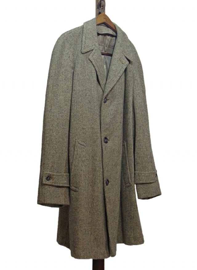 70's USA Harris Tweed Big Size Vintage Coat #577<img class='new_mark_img2' src='https://img.shop-pro.jp/img/new/icons8.gif' style='border:none;display:inline;margin:0px;padding:0px;width:auto;' />