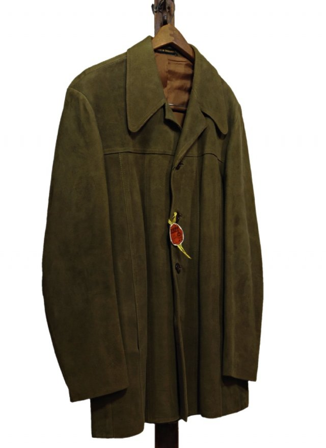 Dead Stock UK Vintage Suede Leather Jacket MUSTACUT #655<img class='new_mark_img2' src='https://img.shop-pro.jp/img/new/icons8.gif' style='border:none;display:inline;margin:0px;padding:0px;width:auto;' />