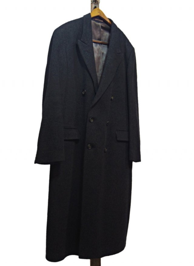 70's UK Vintage maculette Cashmere Chesterfield Double Coat #140<img class='new_mark_img2' src='https://img.shop-pro.jp/img/new/icons8.gif' style='border:none;display:inline;margin:0px;padding:0px;width:auto;' />