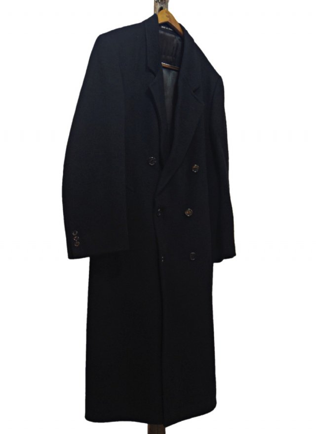 50's UK Vintage Hammersley Cashmere Wool Blend Chesterfield Double Coat <img class='new_mark_img2' src='https://img.shop-pro.jp/img/new/icons8.gif' style='border:none;display:inline;margin:0px;padding:0px;width:auto;' />
