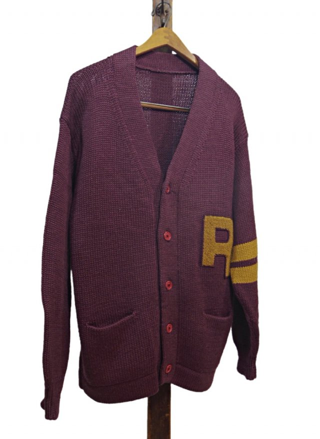 60's ITA Vintage Lettered Knit Cardigan<img class='new_mark_img2' src='https://img.shop-pro.jp/img/new/icons8.gif' style='border:none;display:inline;margin:0px;padding:0px;width:auto;' />