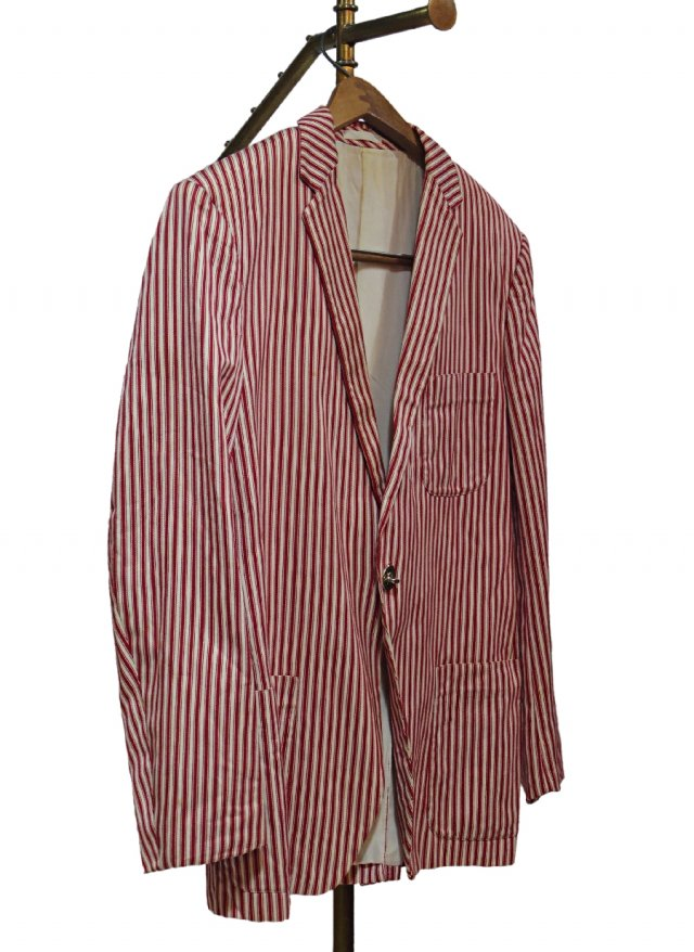 UK Vintage Stripe School Uniform Blazer #0002<img class='new_mark_img2' src='https://img.shop-pro.jp/img/new/icons8.gif' style='border:none;display:inline;margin:0px;padding:0px;width:auto;' />