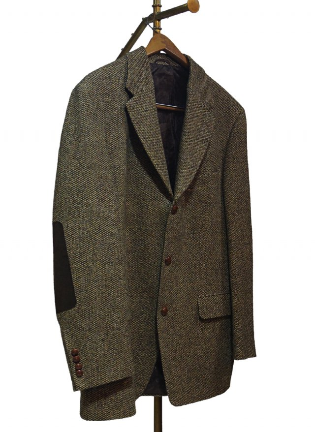 80's UK Harris Tweed × MARIO BARUTTI 3 Buttons Vintage Jacket #0009<img class='new_mark_img2' src='https://img.shop-pro.jp/img/new/icons8.gif' style='border:none;display:inline;margin:0px;padding:0px;width:auto;' />